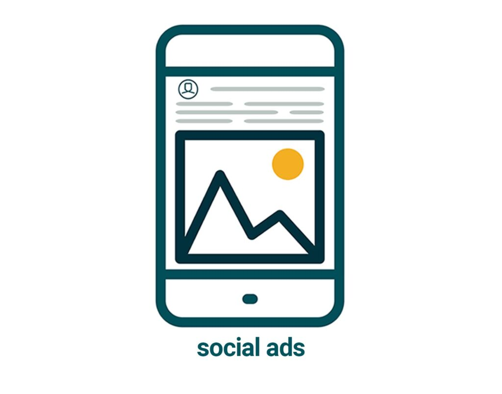 links to social media advertising page